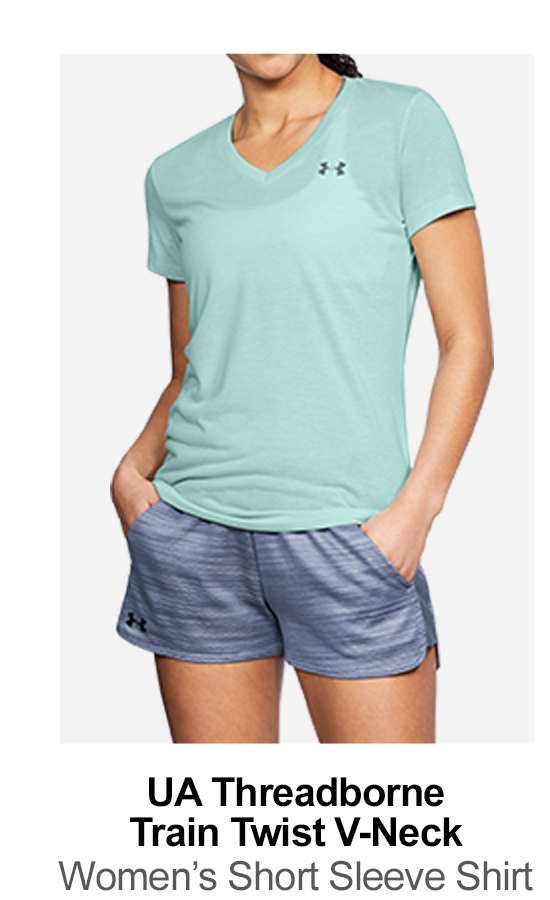 UA Threadborne Train Twist V-Neck - Women's Short Sleeve Shirt